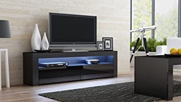 Amazoncom TV Console MILANO Classic BLACK TV stand up to 70inch
