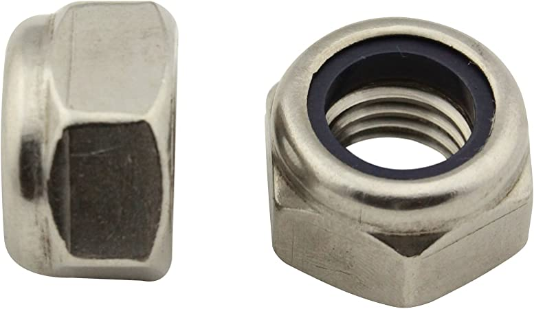 50 St/ück Edelstahl A2 - SC603 // SC982 DIN 603 // DIN 982 Schlossschrauben Flachrundschrauben mit Sicherungsmuttern - M8x30 - V2A Stoppmuttern - Vollgewinde hohe Form
