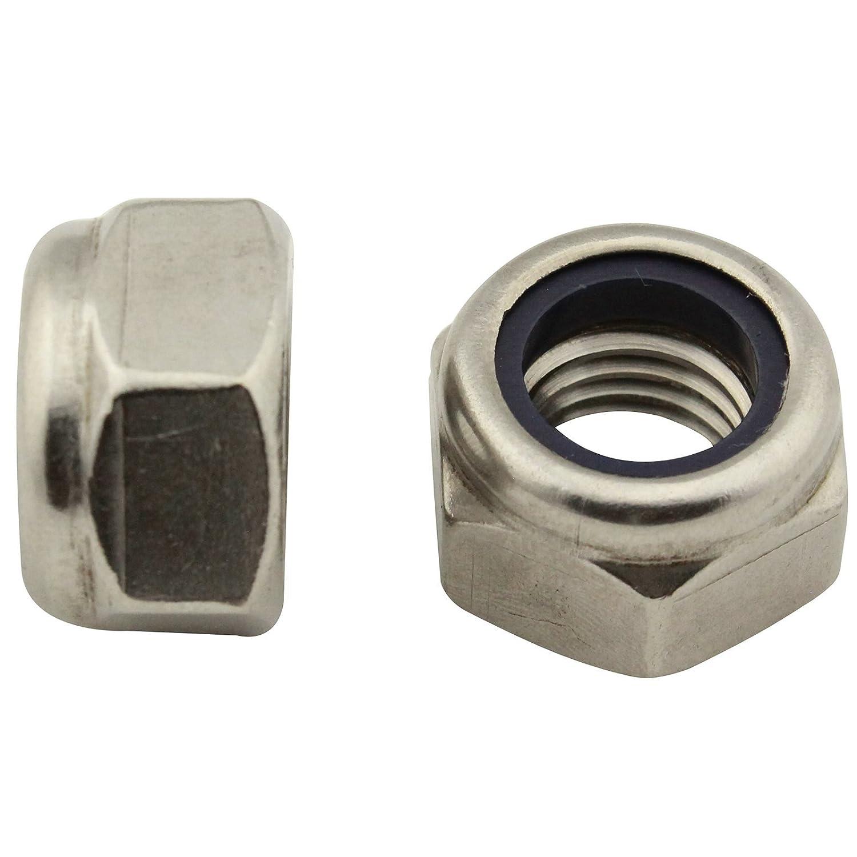 Edelstahl V2A VA A2 DIN 985 // ISO 10511 SECCARO Sicherungsmutter M14 20 St/ück Sechskant