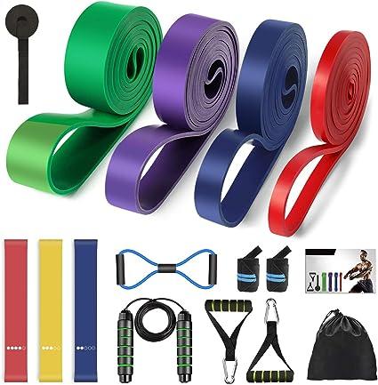 None 11 Pcs Bandes de R/ésistance Ensemble Empilable Pratique Durable Bande de R/ésistance Fitness Pull Corde pour Gymnastique