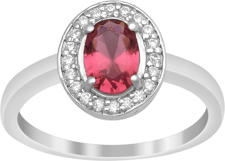 Diseño princesa Anillo de regalo de compromiso de piedras preciosas de circonita roja de plata de ley 925
