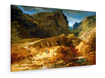 Spitzweg Italienische Landschaft Malerei 60x40 Cm