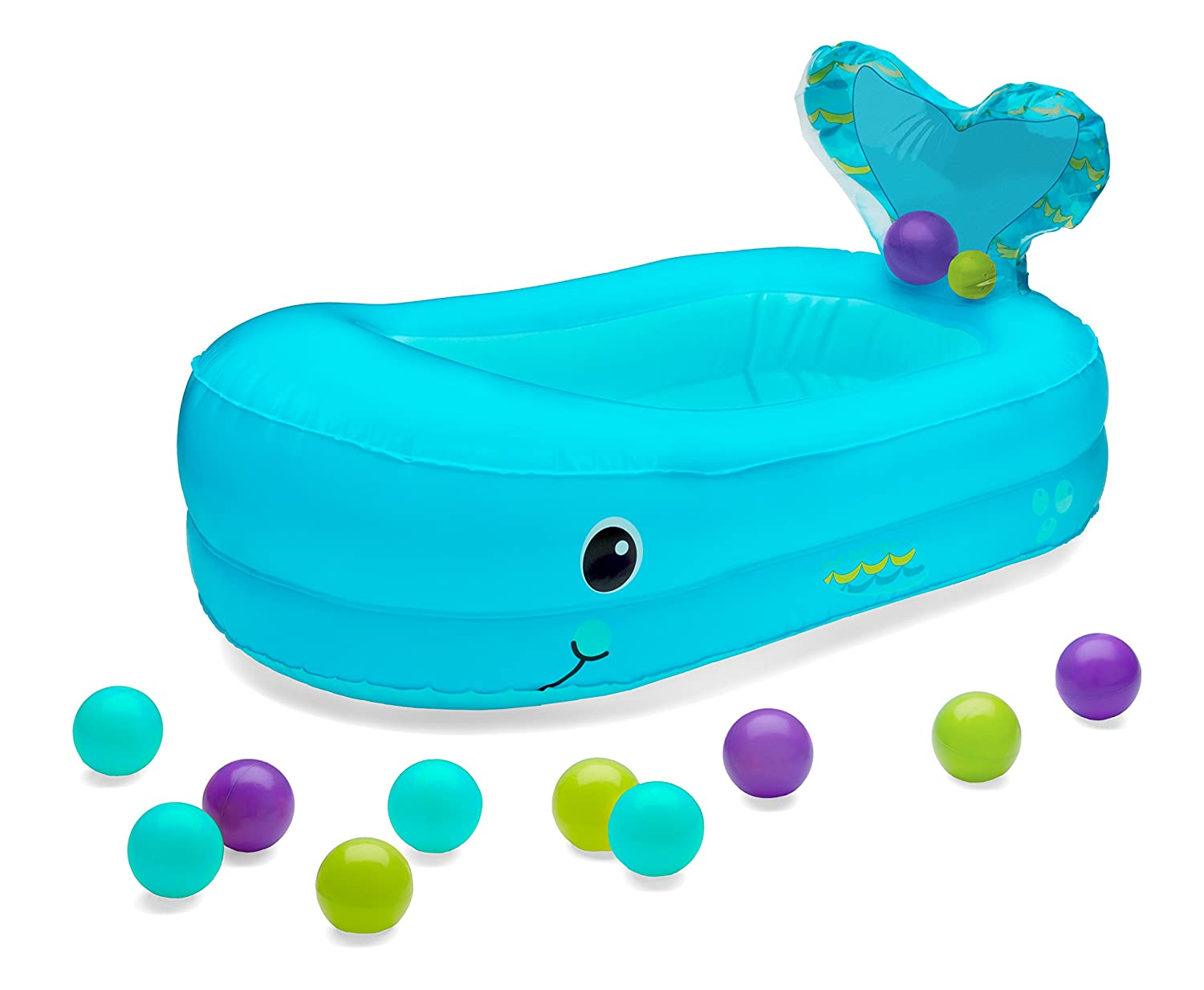 Amazon.com : Infantino Whale Bubble Inflatable Bath Tub and Ball Set ...