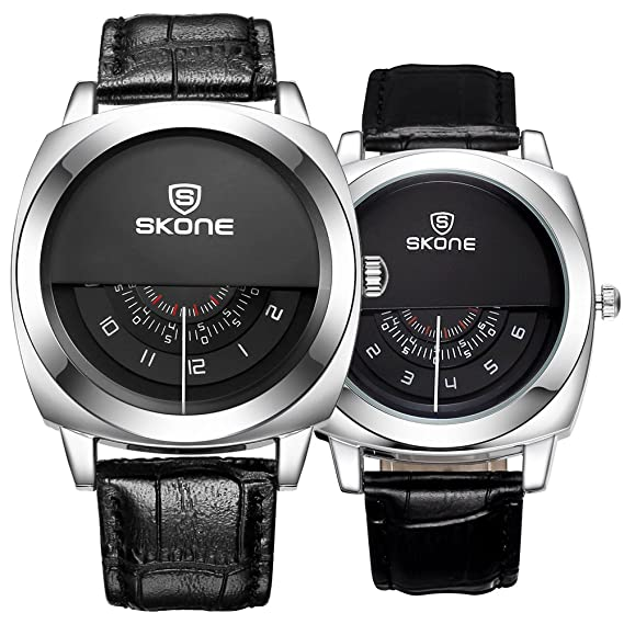 JIANGYUYAN pareja relojes de pulsera Fashoin de piel reloj para hombres y mujeres que y su ...
