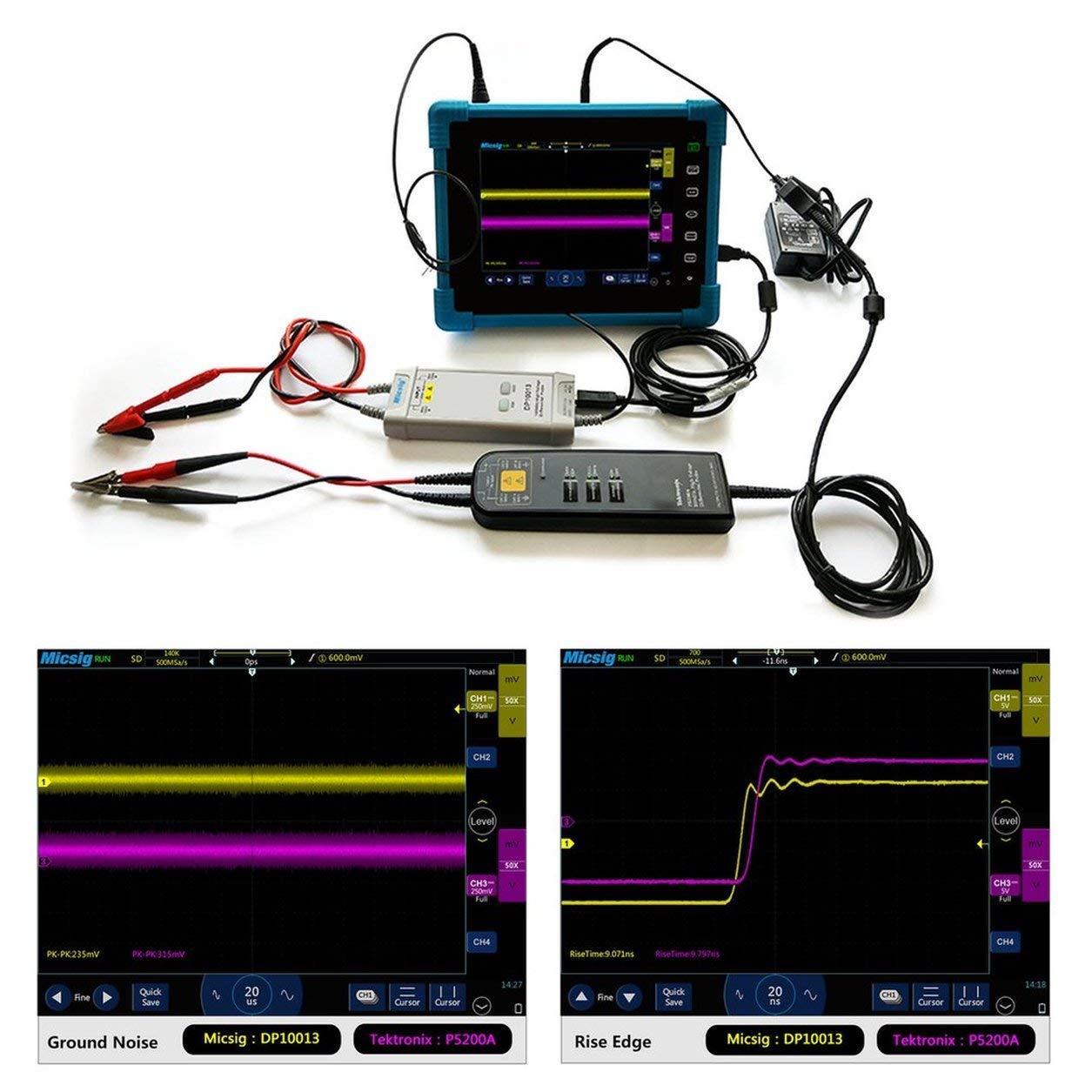 Micsig Oscilloscope 1300V 100MHz High Voltage Differential Probe Kit DP10013 B07KM8QGB8