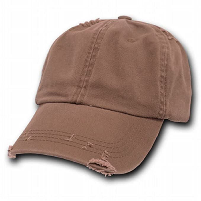 9cd95ad08e4 Amazon.com  Decky Plain Spring Baseball Vintage Distressed Style Cap Hat  (Adjtable