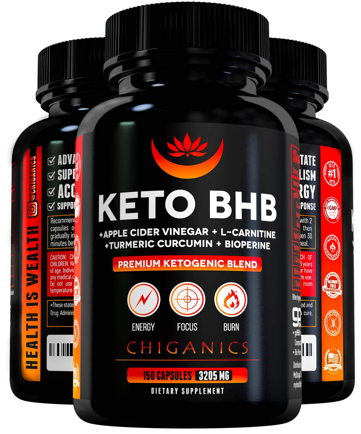 Powerful BHB Keto Pills Weight Loss 3200mg- Apple Cider Vinegar Capsules Turmeric Curcumin L-Carnitine -Boost Energy Metabolism- Keto Fat Burner Pills BHB Exogenous Ketones – Keto Diet Pills
