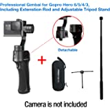 Freevision VILTA-G 3-Axis Stabilized Handheld Gimbal for Gopro HERO 6/5/4/3+/3, Best performance,Stable,Versatile,Detachable, Including Extension rod and Tripod stand