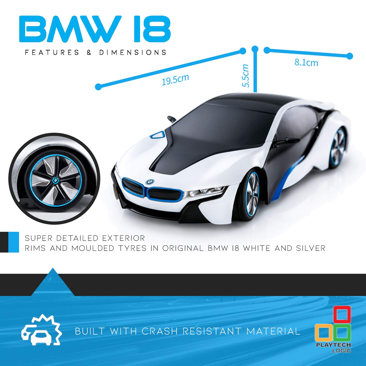 Concept Bmw I8 Remote Control Cars For Kids Playtech Logic Pl615