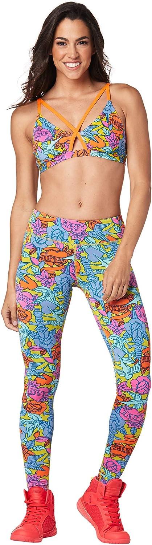 Zumba Fitness Leggings con Stampa a Compressione per Allenamento a Fascia Larga Pantaloni Donna