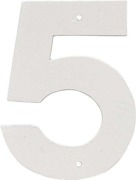White HHN-8-1-W Montague Metal Products 8 Aluminum House Number 1 Outdoor Plaque Medium
