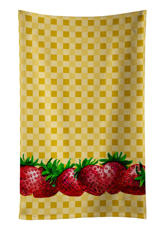 Carolines Treasures BB7172KTWL Guavas on Basketweave Decorated dish towel Multicolor 25Hx15W
