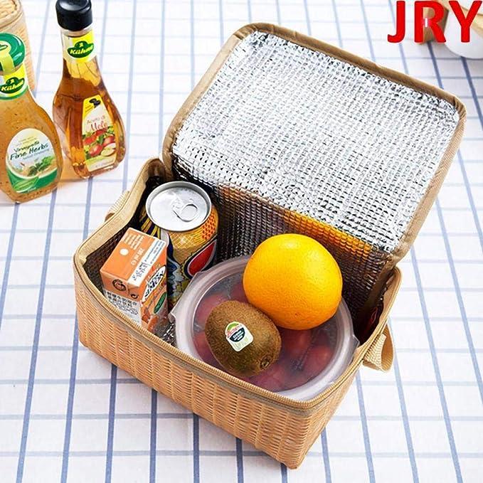 Tiowea per picnic Borsa termica per il pranzo contenitore per il pane e bottiglie dacqua