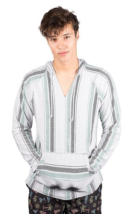 3880481a28 Brooklyn Surf Men's Baja Hoodie Pullover Sweatshirt Mexican Beach Poncho