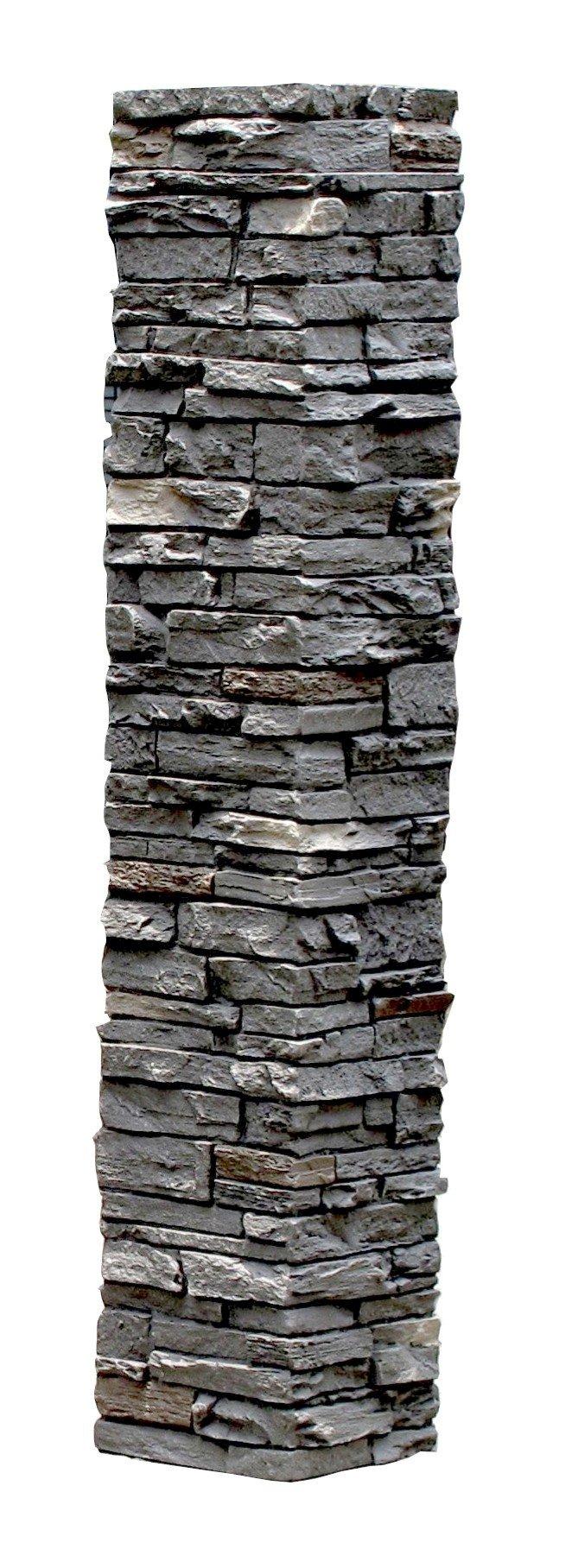 NextStone Slatestone 1pc 8'' x 8'' x 41'' Post Cover Rundle Ridge
