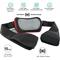 Grin Health Shiatsu 3D Kneading Massager With Heat & Vibrating Therapy For Pain Relief