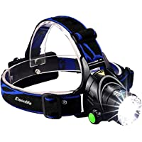 Rechargeable Headlamp, 1800 Lumens Zoomable 3 Modes Waterproof LED head lamp flashlight , Hands-free Super Bright Headlight Torch Lamp for Hunting Hiking Camping Fishing Reading Running Cycling by Eisonlife