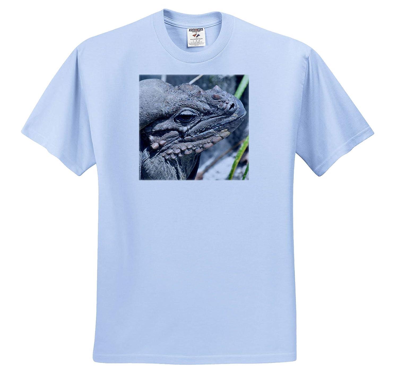 T-Shirts 3dRose Susans Zoo Crew Animal Rhinocerous Iguana Lizard Animal Head