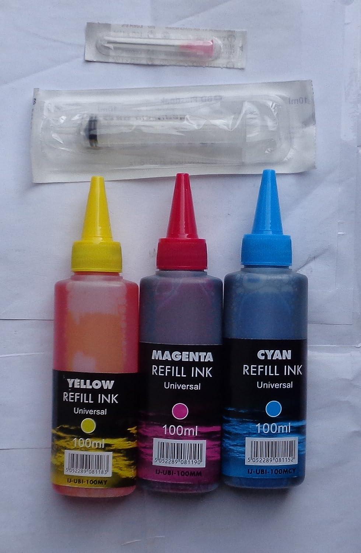 3 colores tinte 100 ml IJ marca con jeringuilla boquilla ...