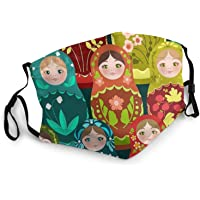 Rusland Matryoshka Doll Herbruikbare Maskers voor Fietsen Camping Ski Reizen Outdoor
