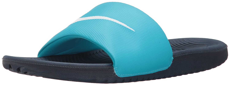 NIKE Women's Kawa Slide Sandal B01F47BV0G 6 B(M) US|Chlorine Blue/White/Obsidian