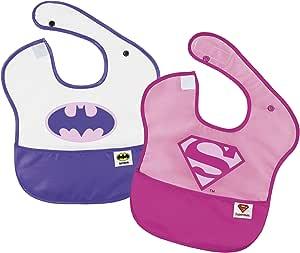 MOLTO Batgirl y Supergirl - Pack dos baberos: Amazon.es: Bebé