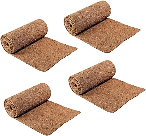 CloseoutZone Set 4 Ice Carpet Mats – Non Slip Walkway Winter Weather Snow Safety