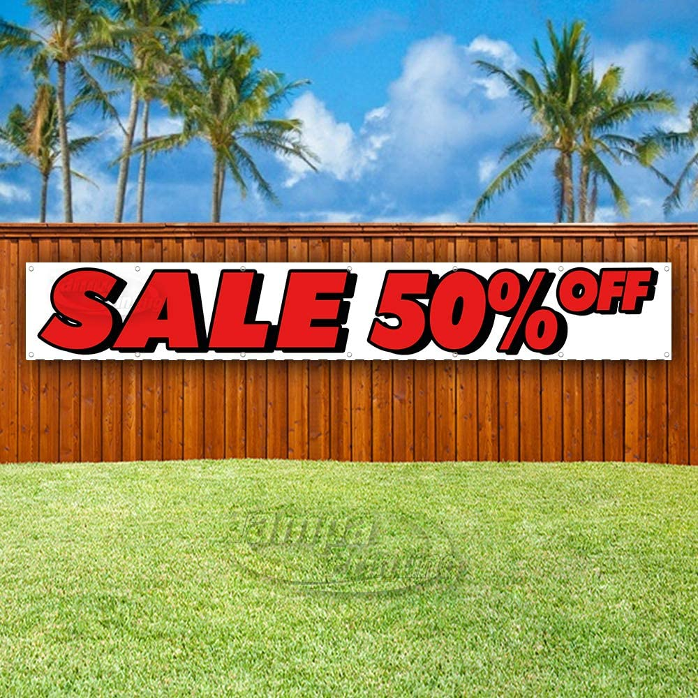 Many Sizes Available Store New Sale 50/% Off Extra Large 13 oz Heavy Duty Vinyl Banner Sign with Metal Grommets Flag, Advertising