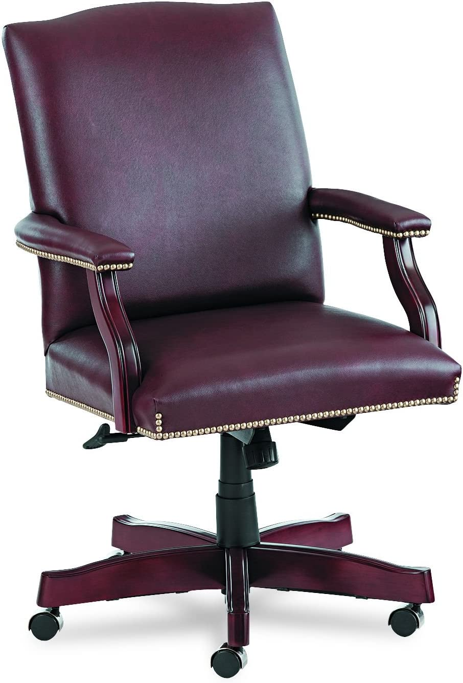 HON Jackson 6570 Series Executive High-Back Swivel and Tilt Chair, Burgundy Leather
