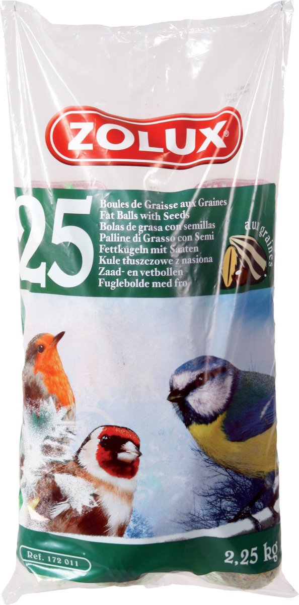 Sachet de 25 Boules de graisse avec filet pour oiseaux du ciel ZOLUX  Amazon .fr  Animalerie 0ccdbf8ed537