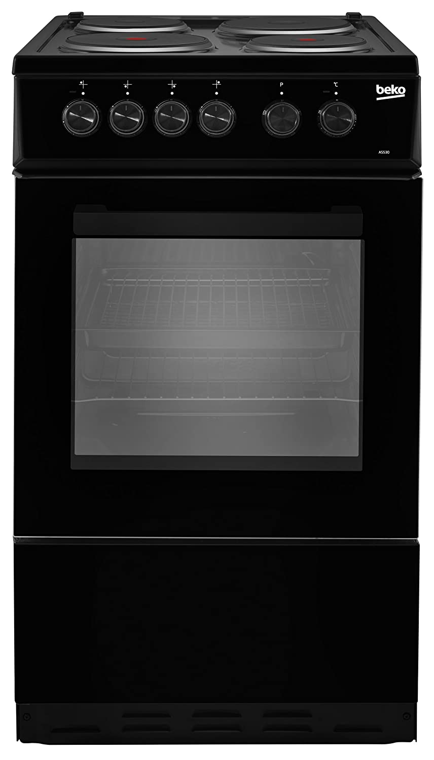 Beko AS530K Freestanding A Rated Electric Cooker - Black AO