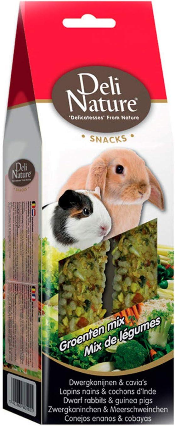 DELI NATURE 15-026160 Barritas Mix Verduras Conejos Enanos Cobayas - 80 gr