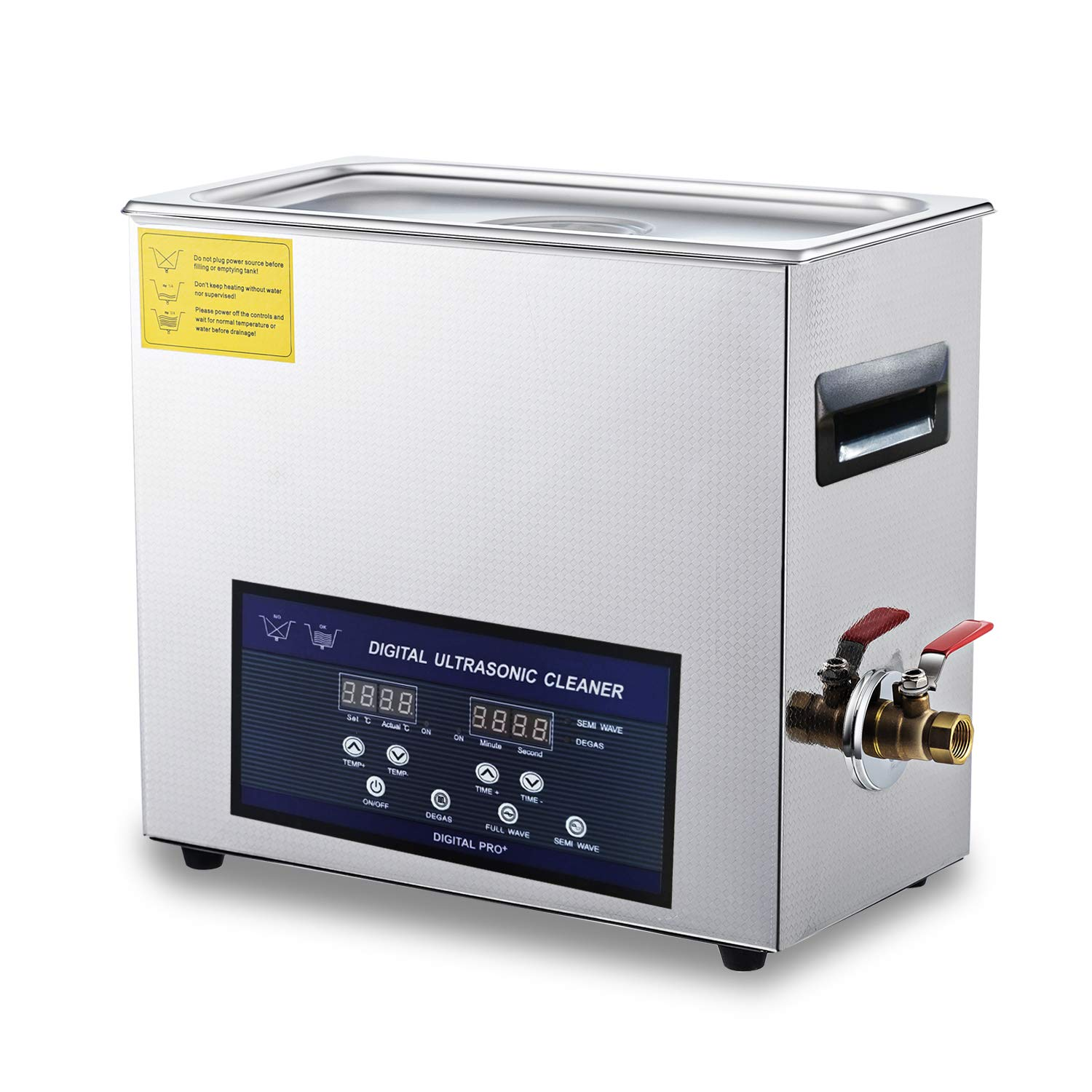 Ultrasonic Carburetor Cleaner 28/40khz Dual Frequency Cleaner 6L Stainless Steel Digital Lab Ultrasonic Cleaners with Timer Heater LED Screen by Kaimashi