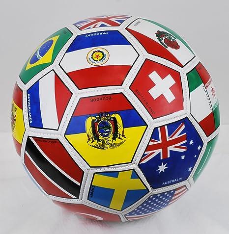 Western Star mundo banderas de país internacional Futbol Balón de ...