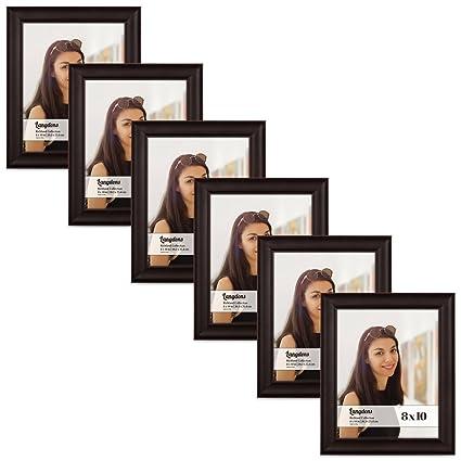 Amazon.com - Langdons 8x10 Picture Frame Set (6-Pack, Dark Brown ...