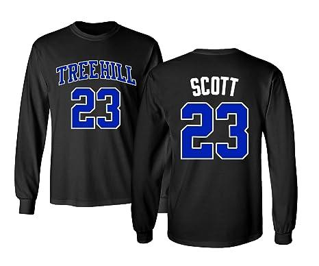 900e1c4b1b62 RAVENS Basketball Movie  23 Nathan Scott One Tree Hill Jersey Style Men s  Long Sleeve T