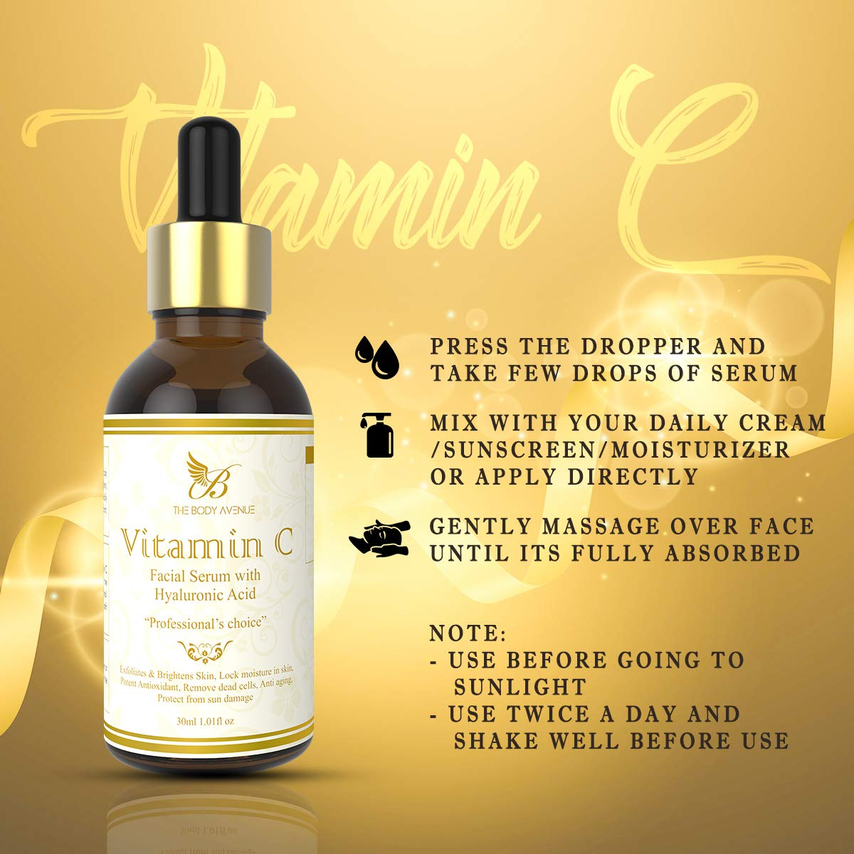 Body Avenue Vitamin C Serum for face