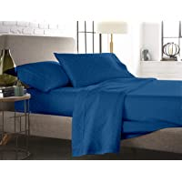 Blue Dahlia Solid Swiss Dot Sateen 300TC Cotton Deluxe Sheet Set with Pillow Cases