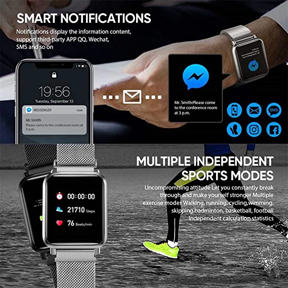 Amazon.com: NOMENI Smart Watch Mens and Womens Smart ...