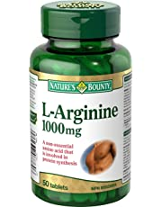 L-Arginine Supplement, Involved in Protein Synthesis, 1000mg, 50 Tablets