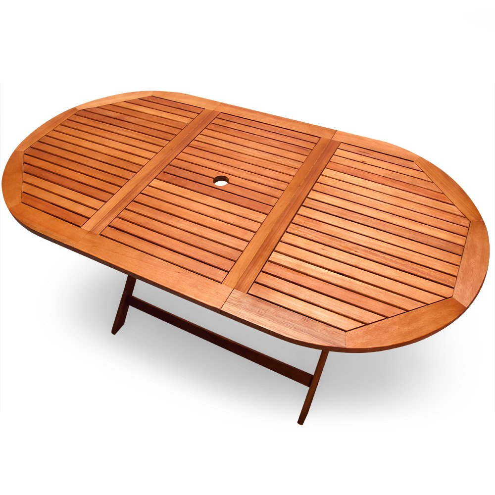 Table De Jardin Pliable Alabama En Bois D Eucalyptus Pr Huil