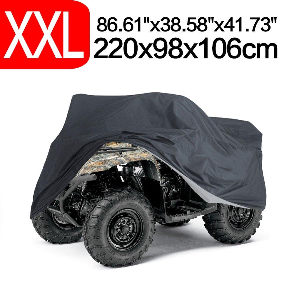 NEVERLAND Waterproof Heavy Duty ATV Cover for Polaris Sportsman Yamaha Honda FourTrax Kawasaki Brute Force Wheel Car Black 100.79x43.31x47.24 inch