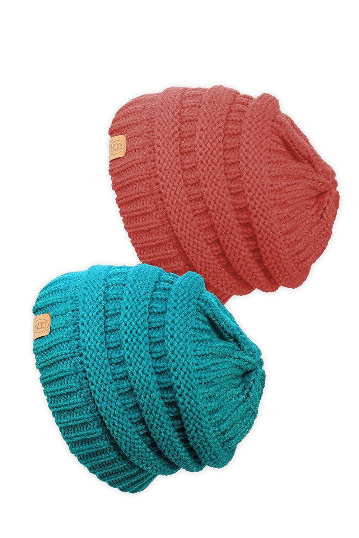 BASICO HAT メンズ B01LZDFBU8 2pk Teal/Coral 101 2pk Teal/Coral 101