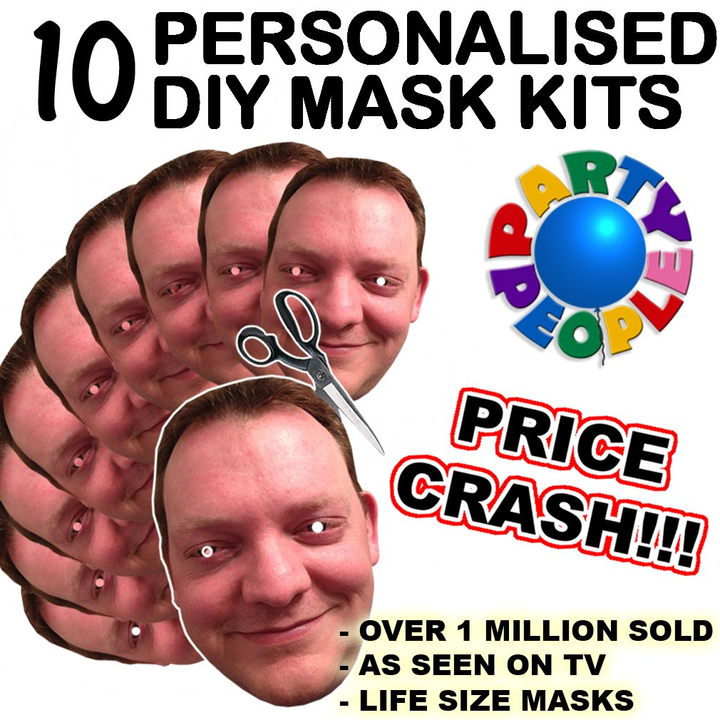 """Personalised Face Masks,2,5,10,15 HEN //STAG 9/"""" Kits or Finished Ready to Wear"""