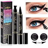 Wing Eyeliner Stamp - 2 Packs Left & Right Dual Ended Liquid Winged Eyeliner Stamp by iMethod, the Easiest Way to Get Perfect Winged Cat Eye Look, Waterproof, Smudgeproof and Sweatproof, Stay All Day