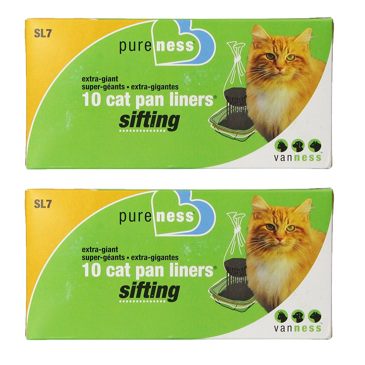 Van Ness Extra Giant Sifting Cat Pan Liners, 10 Count, 2 Pack