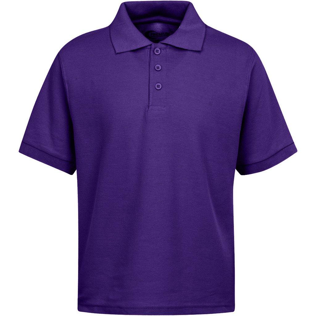 Premium Boys Uniform Polo Shirt Purple XS 5/6