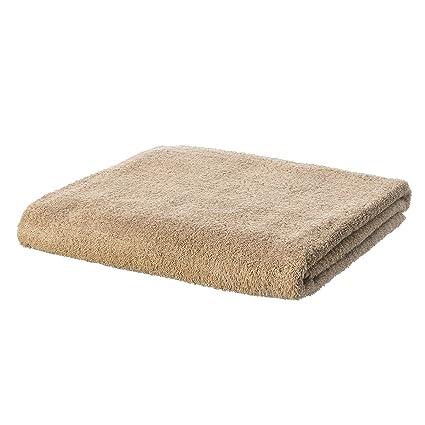 Lola Home Toalla de Ducha clásica marrón de algodón de baño LOLAhome