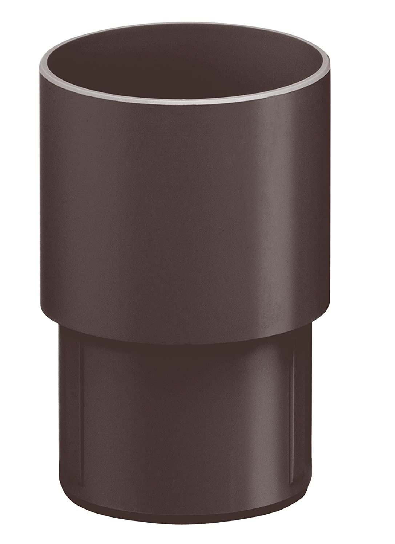 Dunkelbraun Kunststoff INEFA Steckmuffe DN 100 Regenrinne Dachrinne