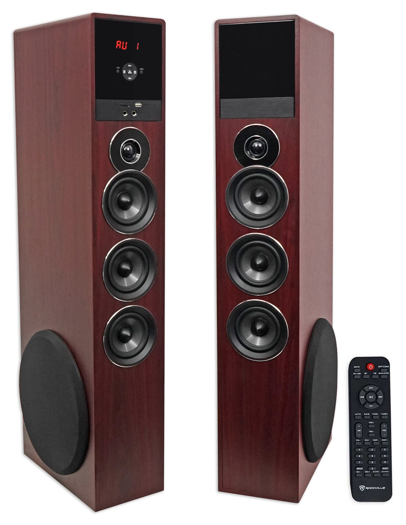 Rockville TM150C Bluetooth Home Theater Tower Speaker System (2) 10'' Subwoofers!